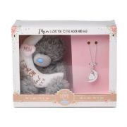 "Me to You 5"" Love You To The Moon & Back Tatty Teddy Bear & Necklace Gift Set"
